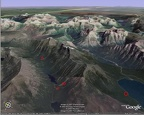 Google Earth image of hike
