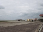 Airport in Belize City - right on the water