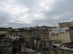 Fez - rooftops near tanneries