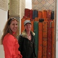 Fez - Betsy and Sharon browsing the fine Berber carpets