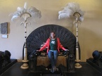 Ouarzazate - Berbere Palace - Betsy sets on a throne from a movie