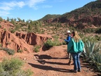 Bab Ourika - setting out on a 4 hour hike in the High Atlas mountains - Betsy and our guide