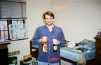 May 1997  Last day in 321 Gilchrist for the year.  Jeff Stetz brought some Pete's Wicked Summer Brew and some Big Bear.  Both be