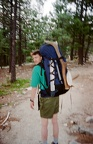June 1997 - First day at Philmont. On the Tooth of Time trail.  Found an elk horn. Taken by Jason Keeney.