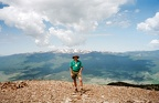 Ken Aldrich on top of Mount Baldy, Colfax County, New Mexico.  Elevation 12,441 feet.