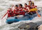 White water rafting on the Rio Grande River, South of Taos, NM. Paul Wheeler, Ken Aldrich, Kyle Taylor, Chris Sprecker, Luke Tes