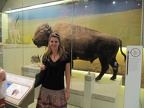 Laura Coon and a bison