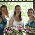 Betsy and her bridesmaids before the ceremony