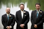 Ken and his groomsmen before the ceremony