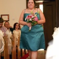 Fawn walking down the aisle