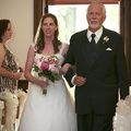 Jim escorting his daughter down the aisle