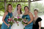 Betsy with her bridesmaids and her mom
