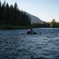 Ken floating down the Flathead River