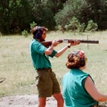 Shooting skeet at Harlan camp with a nice over under